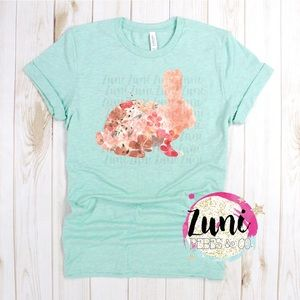 Easter watercolor bunny t-shirt